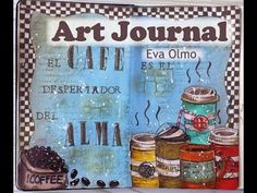 "Art journal: ""Café"" - YouTube"