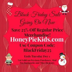 Black Friday sale at Honeypiekids.com. #blackfriday #childrensclothingsale #cybermonday #childrensboutiquesale #childrensboutiqueonline