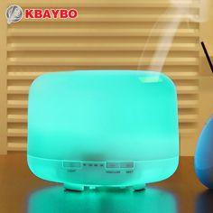 500 ML de Aceite Esencial De Aromaterapia Difusor Humidificador Ultrasónico con 4 Ajustes del Temporizador 7 Lámparas LED de Color Cambiante, 10 Horas