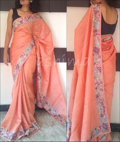 Tussar Silk With Parsi Work-Code:2803151  AVAILABLE For this saree please contact us by messaging our Inbox in FB / mailing us at ashima.retail@gmail.com or calling us at +91 484 4044800