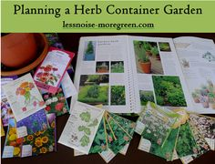 Planning a herb container garden, growing edible flowers, urban farming Herb Garden In Kitchen, Kitchen Herbs, Container Herb Garden, Garden Plants, Herb Gardening, Diy Fireplace, Fireplace Decorations, Small Space Gardening, Farm Gardens