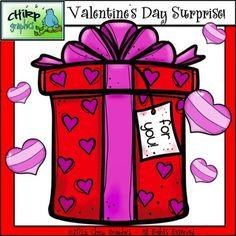 FREE Valentine's Day Surprise Clip Art Set - Chirp Graphics