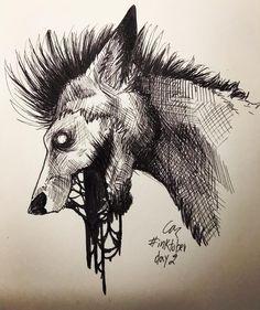 "R. Casthavian on Instagram: ""#inktober2018  Day 2.  My fursona, a werewolf thing. . #inktober #drawtober #goretober #sketch #drawing #sketches #pencils #ink #inkdrawing…"" Sketch Drawing, My Character, Werewolf, Inktober, Moose Art, Drawings, Animals, Instagram, Animales"