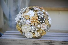 Ready to Ship Brooch Bouquet by nicolasacicero on Etsy, $220.00