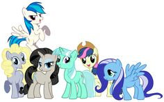 Mane 6 With Background Ponies' Colors by Shadowhedgiefan91 on DeviantArt