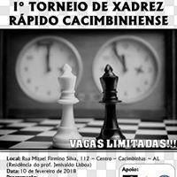 I Torneio de Xadrez Rápido Cacimbinhense at Rua Mizael Firmino da Silva, Cacimbinhas - AL, 57570-000, Brasil