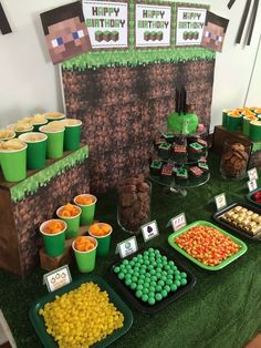 green dessert table