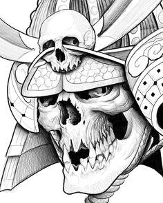 Sketching #tattoo#tattoos#tattooart#japaneseart#japanesetattoo#orientalart#orientaltattoo#asianart#asiantattoo#skull#skulltattoo#singaporetattoo#samurai#samuraitattoo#brighton#brightontattoo#
