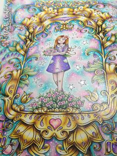 johanna basford ivy and the inky butterfly coloured pages Johanna Basford Books, Johanna Basford Coloring Book, Josephine Wall, Colouring Pages, Coloring Books, Colored Pencil Artwork, Colored Pencils, Magical Jungle Johanna Basford, Enchanted Forest Coloring Book