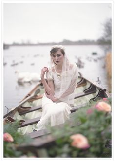 This gorgeous #weddinggown is a vintage #wedding dream come true! From http://100layercake.com/blog/2012/06/12/downton-abbey-inspired-shoot/ Photo Credit: http://lisa-odwyer.photoshelter.com/