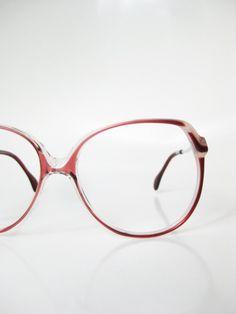 Rodenstock Sunglasses 1980s Oversized VIntage Glasses Eyeglasses Huge Indie Hipster Chic Oxblood Wine Red Brown 80s Avant Garde Eighties