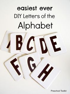 These alphabet letters are easy to make and will be a perfect addition to your preschool toolkit . Use them to play alphabet games with early learners. Kids can use the durable cards during independent play to explore letters of the alphabet. Kids Learning Activities, Fun Learning, Teaching Resources, How To Make Letters, Diy Letters, Alphabet Games, Learning Styles, Early Literacy, Childhood Education