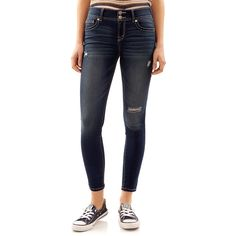 Juniors' Wallflower Ripped Ultra Skinny Jeans, Teens, Size: 13, Purple Oth