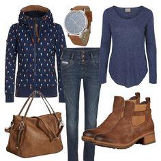 Herbst-Outfits: BlauBraunerTrend bei FrauenOutfits.de