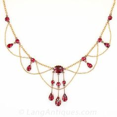 Ooh-la-la! A fabulous, early-to-mid-nineteenth century French necklace to drape your decolletage. This rare and entrancing jewel is aglow wi...