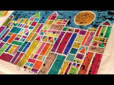Cray-Pas Oil Pastel Art in the Classroom: Paul Klee Inspired Cityscape Art Lessons For Kids, Art Lessons Elementary, Art For Kids, Elementary Schools, Oil Pastel Art, Oil Pastels, Paul Klee Art, Cubism Art, 6th Grade Art