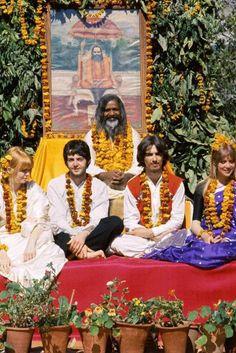Maharishi with the Beatles in Rishikesh A begger to beatles - Rishikesh a city of spiritual wisdom. www.rishikeshyogdham.com