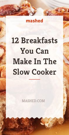 12 Breakfasts You Can Make In The Slow Cooker Easy To Cook Meals, Slow Cooked Meals, Crock Pot Slow Cooker, Crock Pot Cooking, Slow Cooker Recipes, Crockpot Recipes, Cooking Recipes, Oatmeal Slow Cooker, Crockpot Dishes