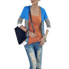 Allegra K Women V Neck Long Sleeve Single Breasted Knit Cardigan Lake Blue XS Allegra K. $12.94