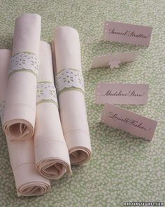 """See the """"Eyelet Napkin Rings"""" in our  gallery"""