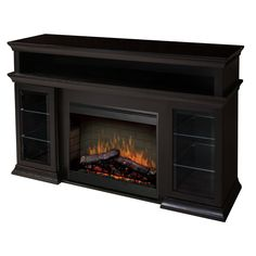 """Bennett 66"""" TV Stand with Electric Fireplace"""