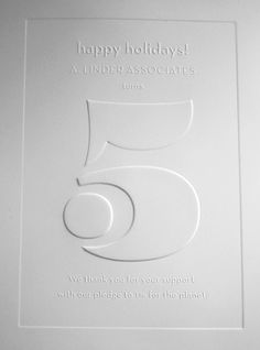 A. Linder Associates holiday card. Simple and gorgeous.