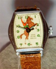 Vintage 1948 Gene Autry Wilane Watch Original Gene Autry Band Running accurately Swiss Made Watches, Pearl Studs, Cool Watches, Running, Band, The Originals, Vintage, Racing, Pearl Earrings