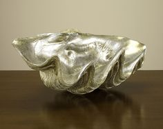 Found it at Wayfair - Leafed Clam Shell Sculpture Decorative Objects, Decorative Bowls, Giant Clam Shell, Home Office Accessories, Interior Accessories, Decorative Accessories, Bliss Home And Design, Fireplace Accessories, Clams