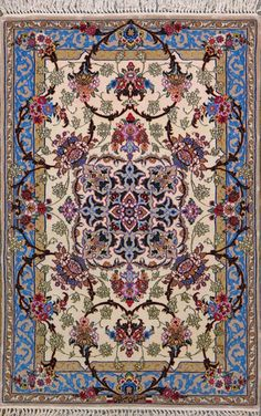 Esfahan Persian Rug, Buy Handmade Esfahan Persian Rug 2 8 x 4 2, Authentic Persian Rug $2,140.00