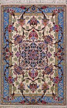 Esfahan Persian Rug, Buy Handmade Esfahan Persian Rug 2 8 x 4 2, Authentic Persian Rug $2,140.00
