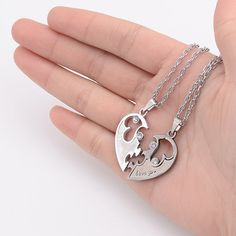 87e470e837 Stainless Steel Couples necklace Set by Hip11 on Etsy Necklace Set, Dog Tag  Necklace,