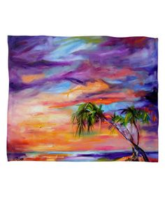 Florida Palms Beach Fleece Blanket by DENY Designs #zulily #zulilyfinds