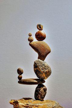 Ausbalancierte -Skulptur