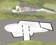 Bigbury Hollow plan drawings. Bigbury Hollow is a large PPS 7 underground house. Designed by Hawkes Architecture, this energy efficient timber-frame passive house will utilize the latest renewable technology.