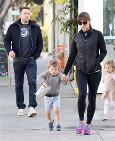 Ben Affleck and Jennifer Garner took their son Samuel to breakfast in Santa Monica, Calif., on April Ben And Casey Affleck, Jennifer Garner Ben Affleck, Celebrity Babies, Celebrity Children, Ben And Jen, Ryan Gosling, Sporty, April 7, Celebs