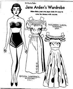 321 best 1951 images vintage illustrations baby illustration 1953 Hudson Wasp Convertible mostly paper dolls jane arden s wardrobe 1951 barbie paper dolls vintage paper dolls