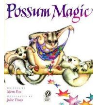Possum Magic by Mem Fox. Reading a lot of Mem Fox books b/c she's from Australia, as is Sophie Blackall. This one was the only one I own that really gave a sense of Australia. Little Books, Good Books, Possum Magic, Best Toddler Books, Thing 1, Australia Day, Australian Animals, Australian Icons, Magic Book