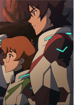Keith and Pidge the Red and Green Paladins at Olkarion from Voltron Legendary Defender
