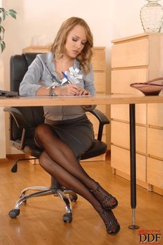 Men christmas nasty office pantyhose sex hester cute her tities
