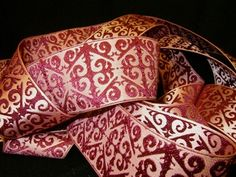 """Crafters Vision - DR - Ruby Arabesque 1 1/2"""" Ribbon, $4.25 (http://www.craftersvision.com/dr-ruby-arabesque-1-1-2-ribbon/)"""