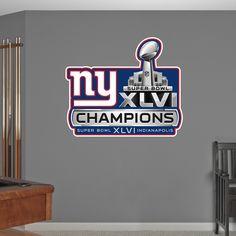 New York Giants Super Bowl XLVI Champions Logo  9914fde4e48c4