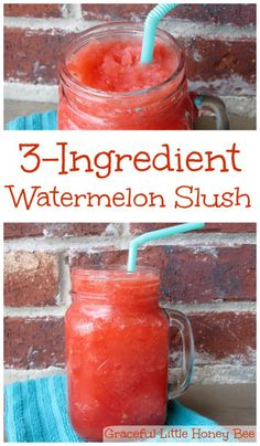 Easy 3-Ingredient Watermelon Slush gracefullittlehoneybee.com