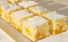 Canned Peaches Fanta Cake Greek Sweets, Greek Desserts, Greek Recipes, Baking Recipes, Cake Recipes, Dessert Recipes, Sweet Bakery, Croatian Recipes, Food Cakes