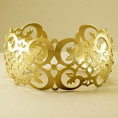 Savannah Cuff Bracelet in Brass by Holly Yashi
