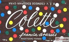 Colette táblás csokoládé (francia drazsés) (80's)