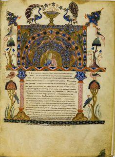 PEACOCK'S GARDEN: From a late 12th century Armenian manuscript