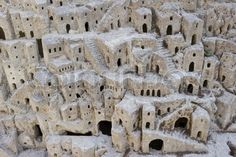 Stock image of 'Closeup model of the Sassi di Matera - meaning stones of Matera which are prehistoric cave dwellings in the Italian city of Matera, Basilicata It is one of the first or eldest settlements of Italy' Places To Travel, Places To Visit, Cave City, Italy Tours, Italy Trip, Southern Italy, Prehistoric, Italy Travel, Travel Inspiration