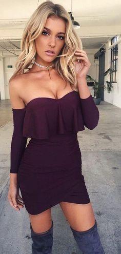 Wine Little Dress                                                                             Source