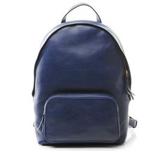 ZIpper Backpack in Indigo by Lotuff Leather.   Available now in limited quantities at Roztayger.com