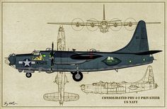 Consolidated Pby-4-2 Privateer Digital Art - Usn Privateer - Profile Art by Tommy Anderson